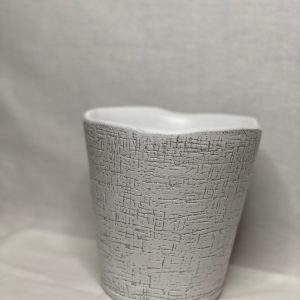 """5"""" White Etched Pot"""